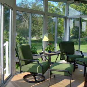 Enjoy beautiful scenery from the comfort of your sunroom any time of the year
