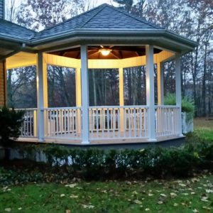 Railing on gazebo