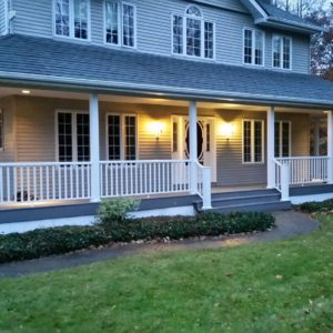 Front Porch Railing and decking